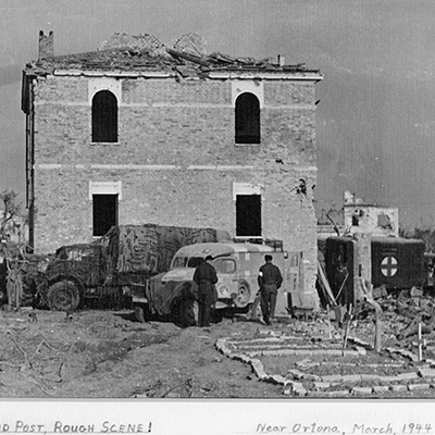 Canadian First Aid Post. Ortona, Italia, Marzo 1944