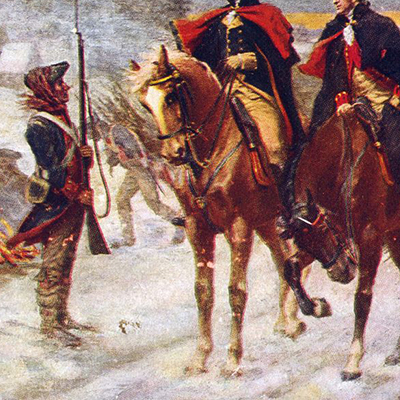 George Washington e Lafayette a Valley Forge, John Ward Dunsmore, 1909