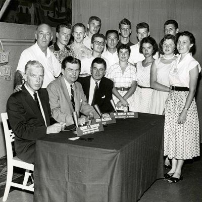 Studenti AFS partecipanti al programma 'Youth Wants To Know', 2 luglio 1955.
