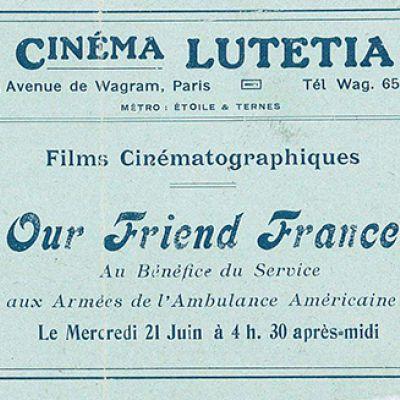 Cinema Lutetia, Parigi, proiezione di Our Friend France.